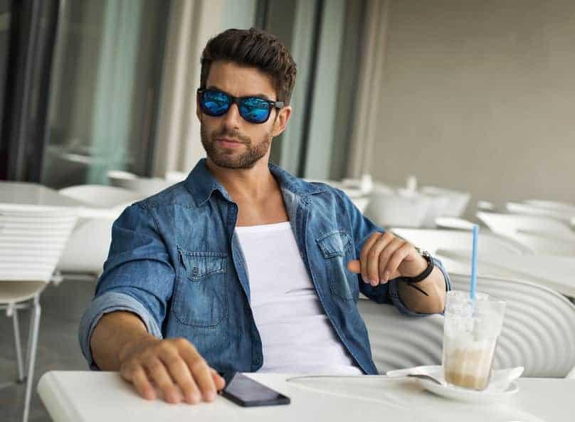 street portrait of man in sunglasses